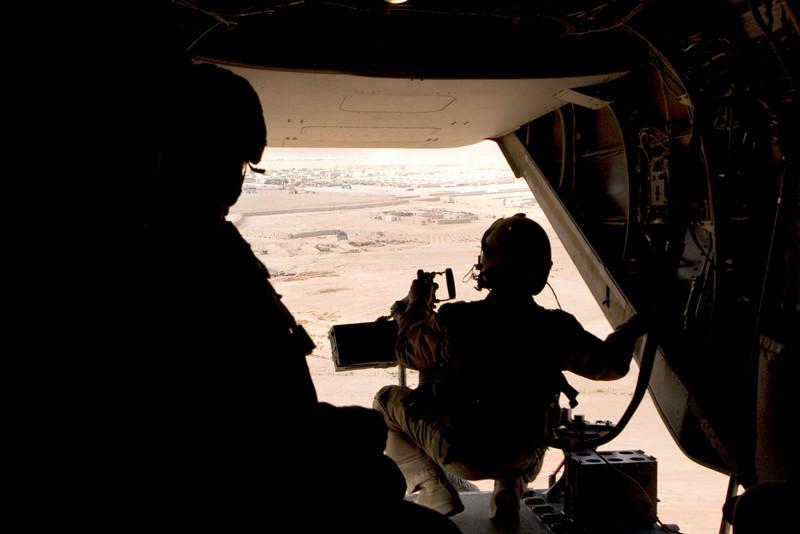 Flying out of Ramadi, Iraq. Nov. 2007.