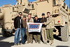 11/09/2010 Kandahar, Afghanistan.L-R Stepan Pastis, Mike Luckovich, Jeff Keane, Rick Kirkman, Tom Richmond, Garry Trudeau