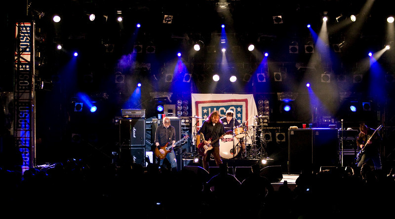"Members of the South African rock band, ""Seether"" perform for hundreds of military members and their families at Camp Schwab, Okinawa as part of the USO/Armed Forces Entertainment May 2009 Japan Tour."