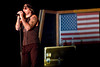 November 28, 2010. Camp Victory, Baghdad, Iraq. Hundreds of U. S. Military personnel showed up for the show. Mathew Sanders (M. Shadows).
