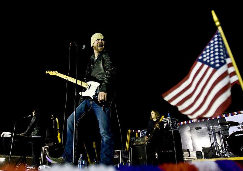 David Cook, 2008 American Idol winner and his band Camp Liberty, Iraq.