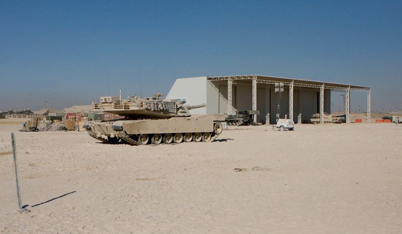 Camp Fallujah, Iraq 11-25-07. This is one of the tanks that my son worked on and went on missions with.