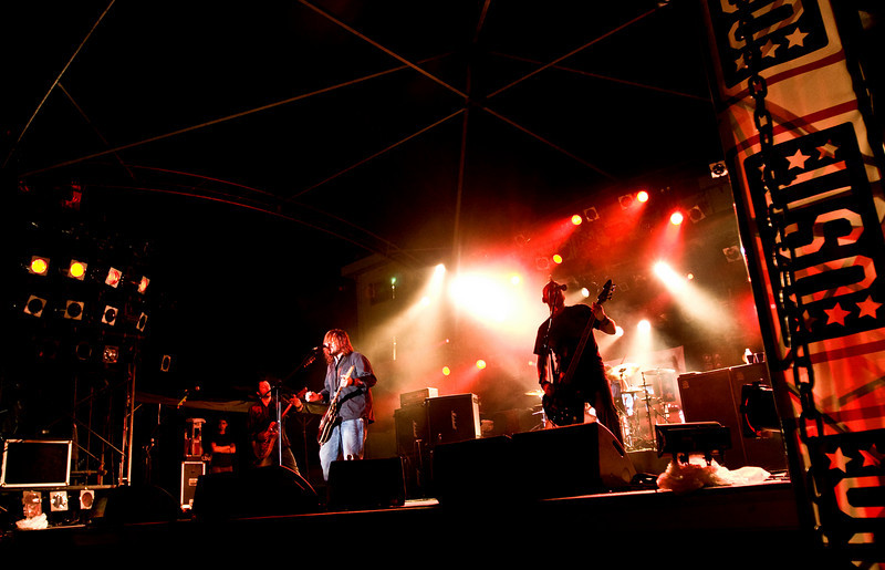"""Members of the South African rock band, """"Seether"""" performed for hundreds of military members and their families at Camp Schwab, Okinawa and signed autographs at Camp Foster, Okinawa and Kadena Air Base, Okinawa as part of the USO/Armed Forces Entertainment May 2009 Japan Tour."""