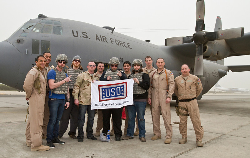 Saving Abel-With the U. S. Air Froce C-130 crew before leaving for Iraq.