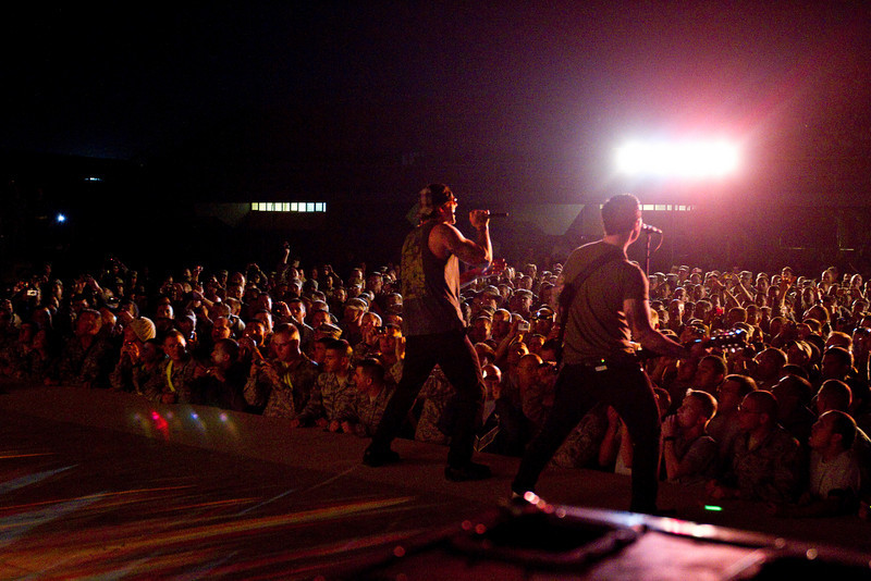 November 29, 2010. Balad Air Base, Iraq. Hundreds of U. S. Military personnel showed up for the show.