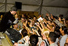 "Hip-Hop artist Ron ""Baby Bash"" Bryant entertains hundreds of Soldiers, Sailors, Marines and Airmen at Tallil Air Base, Iraq Sept. 8, 2008"