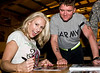 American Gladiator, Venom, Beth Horn signs autographs at Camp Lemonier, Djibouti, November 10, 2008 as part of the USO American Gladiators Tour To Bahrain and Dijbouti.