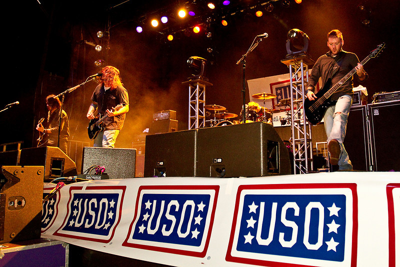 Friday, December 17, 2010. The band Seether. U. S. Marine Corps Base Kaneohe Base, HI. Performing for hundreds of U. S. service members and their families.