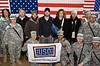David Cook, 2008 American Idol winner and his band. Forward Operating Base War Horse, Iraq. January 21, 2009.