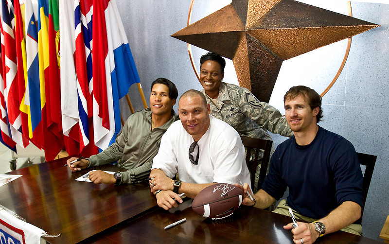 NFL Tour with Drew Brees, Billy Miller and Donnie Edwards. Incirlik Air Base, Turkey.