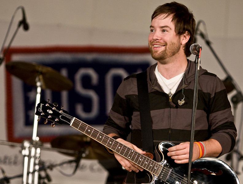 Performance at CampVirginia, Kuwait. David Cook, 2008 American Idol winner and his band
