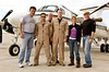 "Actors Brian McNamara, Sally Pressman and Terry Serpico of Lifetime's top-rated drama ""Army Wives"" pose with the crew of the U. S. Navy C-12 aircraft that will carry them from Naval Station Guantanamo Bay, Cuba at the conclusion of the USO/Armed Forces Entertainment ""Army Wives Tour"" December 12-16."