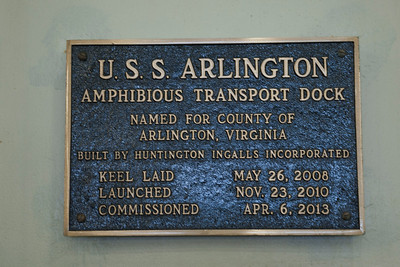 USS Arlington Ribbon cutting for Tribute Room
