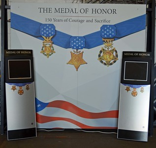 All Medal of Honor Awardees are listed on the Computer Screens