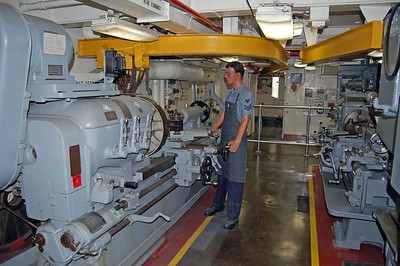 Machine Room with Large Lathes