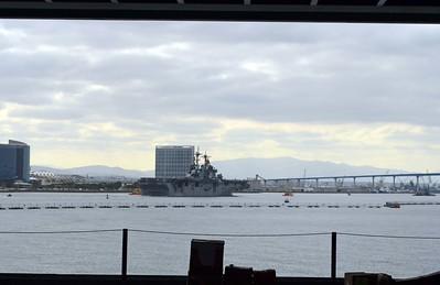 USS Makin Island LHD-8 sails past the Reagan