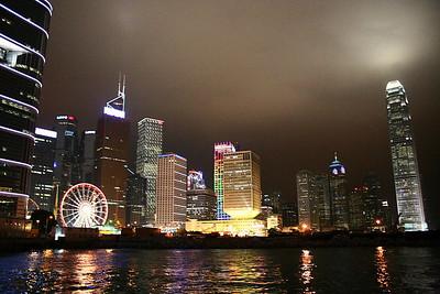 The dramatic skyline of Hong Kong