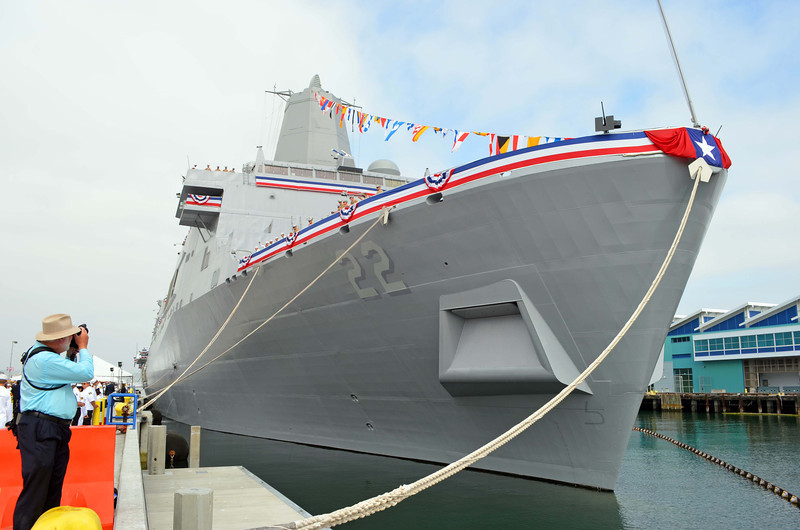 USS San Diego, LPD 22, at Navy Pier