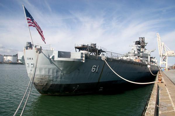 USS IOWA - Gettng ready for San Pedro!