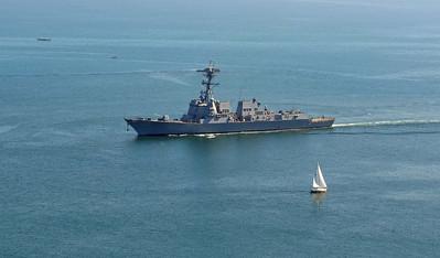 DDG-105, USS Dewey returns to Port