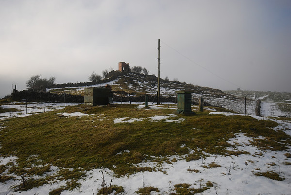 ROC Post is in the centre with a WW2 Observation post on the hill behind