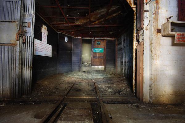Inside the lift area
