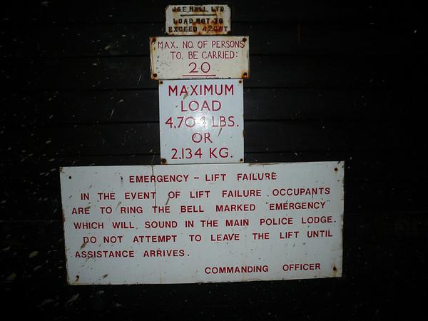 Lift signage
