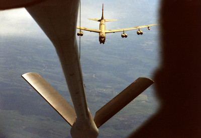 Sneaking up on another air craft, a B-52....well maybe not!