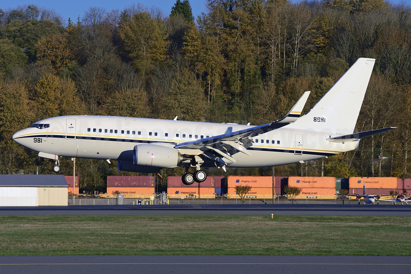 United States Navy Boeing 737-7AF WL 168981 (msn 43828) BFI (Steve Bailey). Image: 925208.