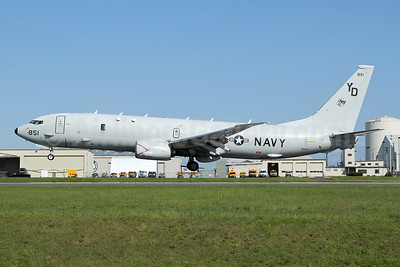 United States Navy Boeing P-8A (737-8FV) Poseidon 168851 (msn 44143) PAE (Nick Dean). Image: 946295.