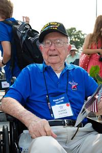 Houston Honor Flight World War II Veteran Albert Lauter (Navy Petty Officer)