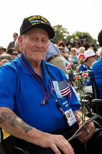 World War II veteran from Honor Flight Houston: Roy Rodgers (Navy Seaman)