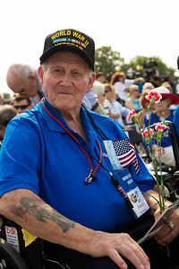 World War II veteran from Honor Flight Houston: Roy Rodgers (Navy Seaman)