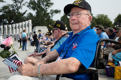 Houston Honor Flight World War II Veteran Albert Lauter (Navy Petty Officer)