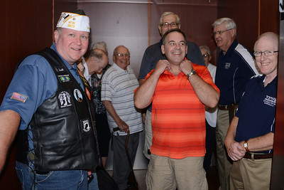 The VFW visited Bob Rieger to give him a sendoff before he moves away from Naperville.