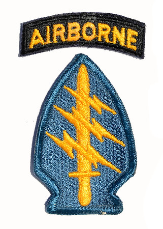 VFW Post 3873 - Panel 01 - Patch 18 - 5th Special Forces Group Airborne (B-55, A-502, A-107)
