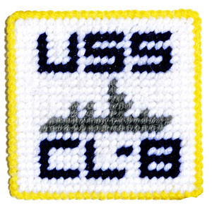 VFW Post 3873 - Panel 01 - Patch 14 - USS Detroit (CL-8), WWII, Light Cruiser