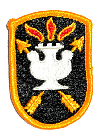 VFW Post 3873 - Panel 01 - Patch 13 - US Army JFK Special Warfare Center and School Insignia
