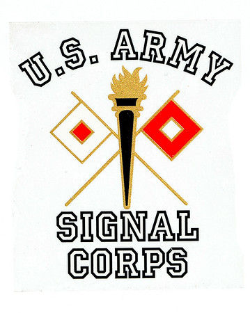 VFW Post 3873 - Panel 01 - Patch 26 - US Army Signal Corps Branch Insignia Sticker