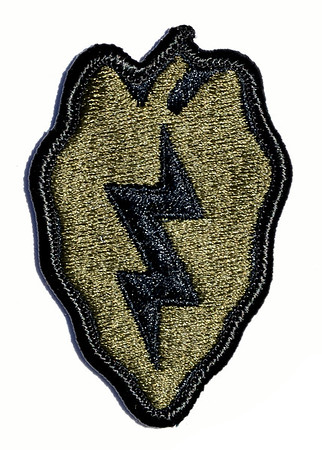 "VFW Post 3873 - Panel 01 - Patch 12 - 25th Infantry Division aka: ""Tropic Lightning"", aka: ""Electric Strawberry"""