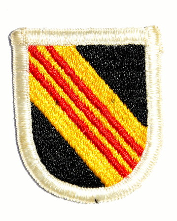 VFW Post 3873 - Panel 01 - Patch 15 - 5th Special Forces Group Beret Flash (Cover Insignia)