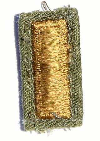 "VFW Post 3873 - Panel 01 - Patch 01 - Army 2nd Lieutenant Rank Insignia (""Butter Bars""); BDU"