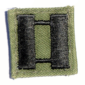 VFW Post 3873 - Panel 01 - Patch 03 - Army Captain Rank Insignia; BDU