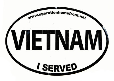 VFW Post 3873 - Panel 01 - Patch 04 - Vietnam Service Bumper Sticker