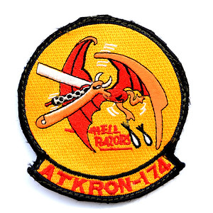 VFW Post 3873 - Panel 10 - Patch 08 - US Navy Attack Squadron 174, aka: Hellrazors, A-7 Corsairs