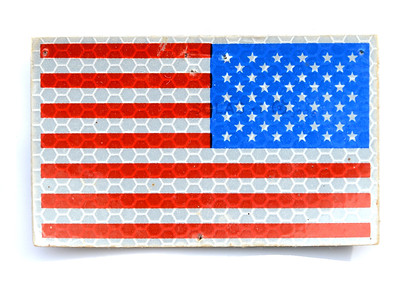 VFW Post 3873 - Panel 10 - Patch 09 - Generic US Flag, IR Reflective Colors (For Night Vision Identification)