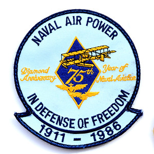VFW Post 3873 - Panel 10 - Patch 07 - 75th Anniversary of Naval Aviation Commemorative Patch