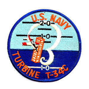 "VFW Post 3873 - Panel 10 - Patch 14 - Generic Beechcraft USN T-34C ""Mentor"" Aircraft Patch"