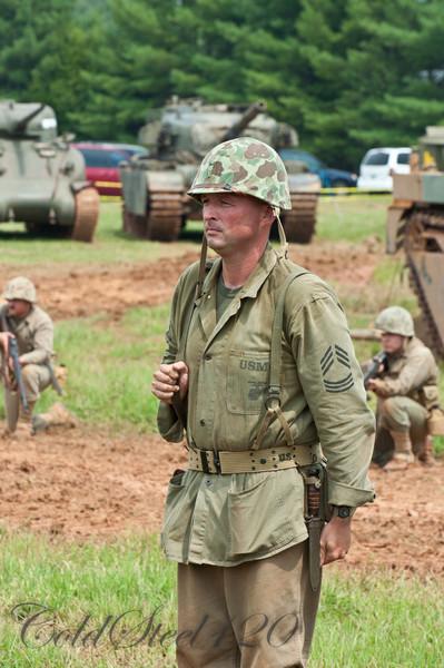 The Marine Corps Historical Company Demonstration of Korean War Tactics