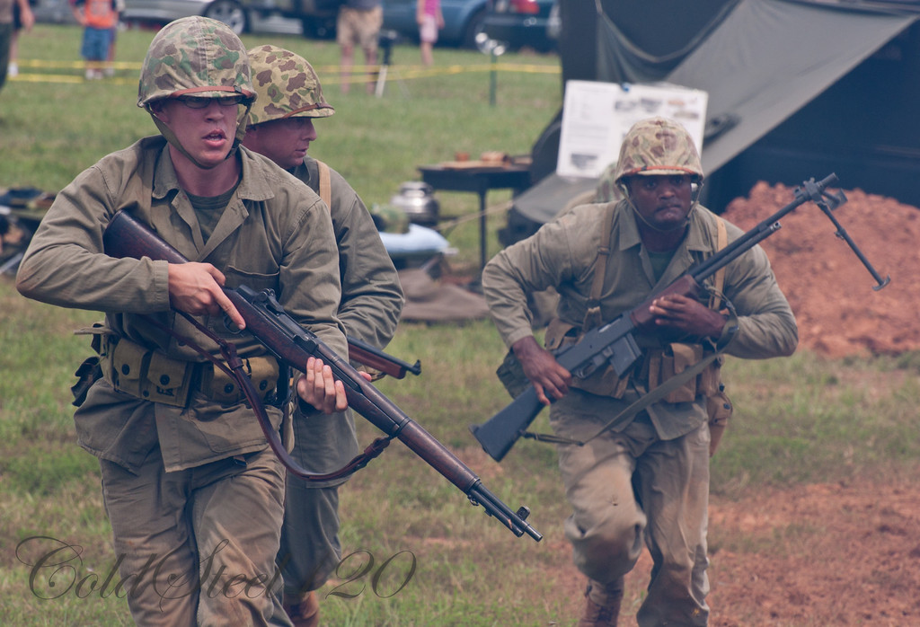 The Marine Corps Historical Company Demonstration of Korean War Tactics
